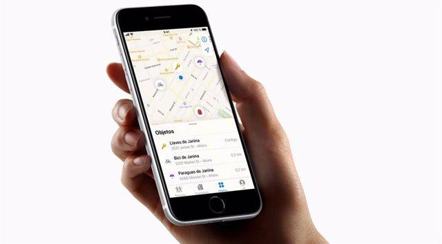 Herramienta Buscar de iOS