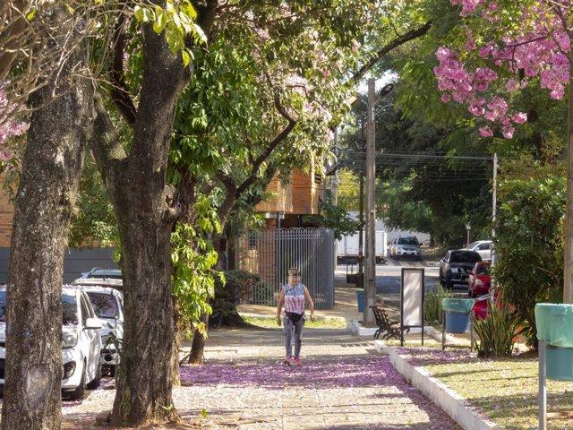 Una calle de Asunción, capital de Paraguay
