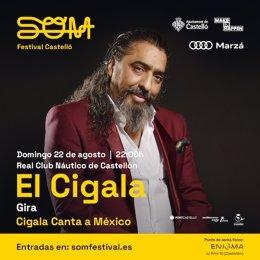 Diego El Cigala actuará el 22 de agosto