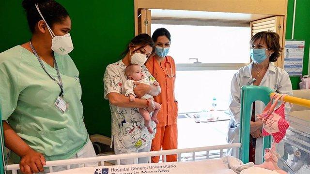 El Gregorio Marañón da el alta a Naiara, primera bebé con trasplante de corazón parado y grupo sanguíneo incompatible