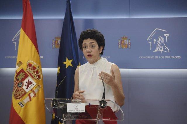 La portaveu parlamentària d'Unides Podem, Aina Vidal.