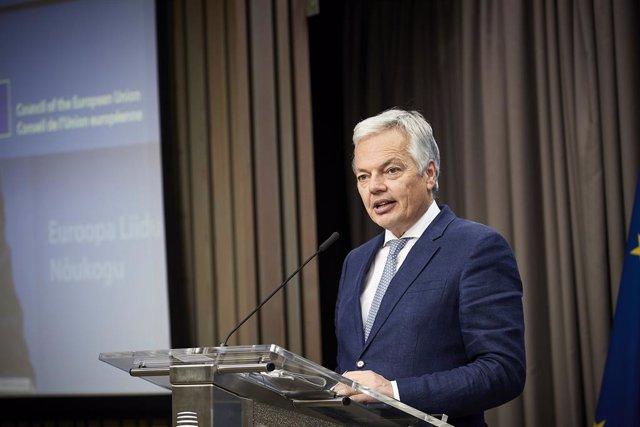 Archivo - El comisario de Justicia de la UE, Didier Reynders