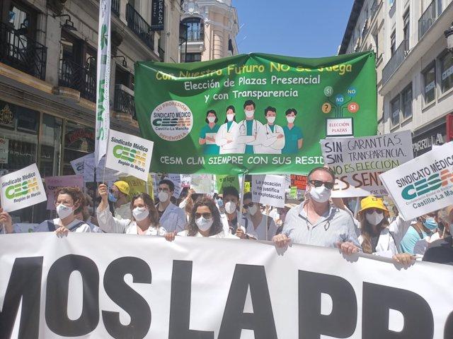 Manifestación MIR en la Puerta del Sol.
