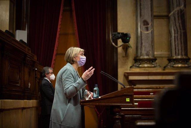 Archivo - Arxiu - L'exconsellera de Salut de la Generalitat, Alba Vergés.