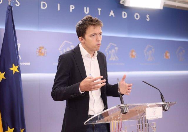 Arxiu - El líder de Més País, Íñigo Errejón.