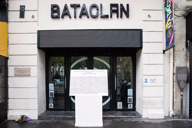 Archivo - Sala Bataclan de París, en el quinto aniversario del atentado
