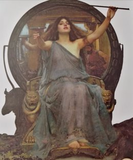 Circe ofreciendo una copa a Ulises , en la Galería Oldham