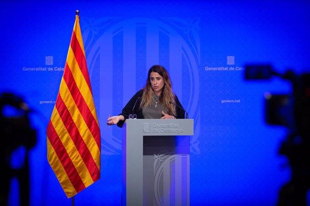 La portaveu del Govern, Patrícia Plaja.