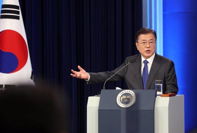 El presidente de Corea del Sur, Moon Jae In.