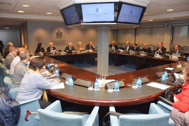 Archivo - Reunión del Pleno del Consejo General de Enfermería