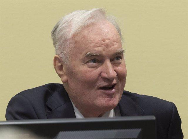 Archivo - Arxiu - Ratko Mladic, en una vista judicial el 2017