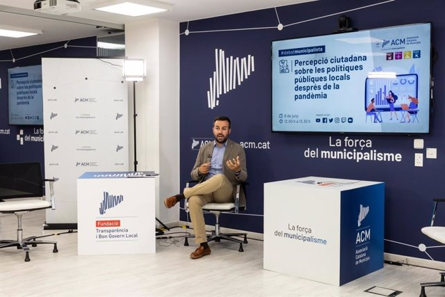 El president de l'Associació Catalana de Municipis (ACM), Lluís Soler, durant el 'Debat Municipalista'