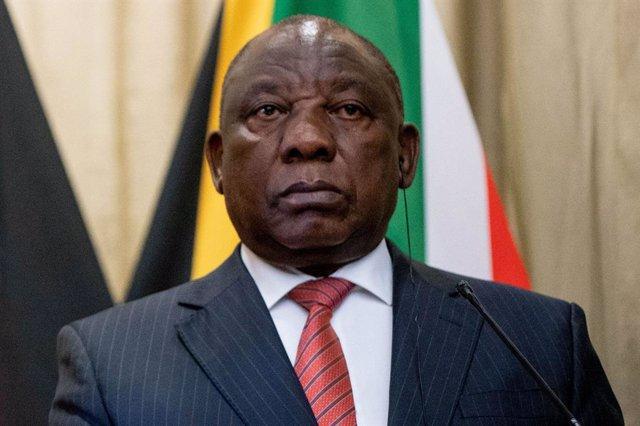 Archivo - El presidente de Sudáfrica, Cyril Ramaphosa