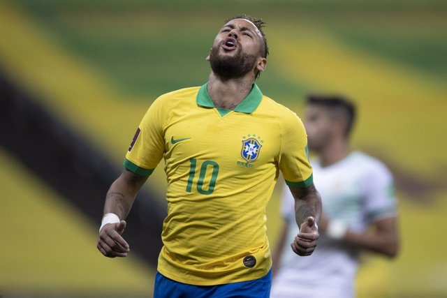 Archivo - HANDOUT - 09 October 2020, Brazil, Sao Paulo: Brazil's Neymar reacts during the 2022 FIFA World Cup qualification (CONMEBOL) soccer match between Brazil and Bolivia at Neo Chemistry Arena. Photo: Lucas Figueiredo/CBF Oficial/dpa - ATTENTION: edi