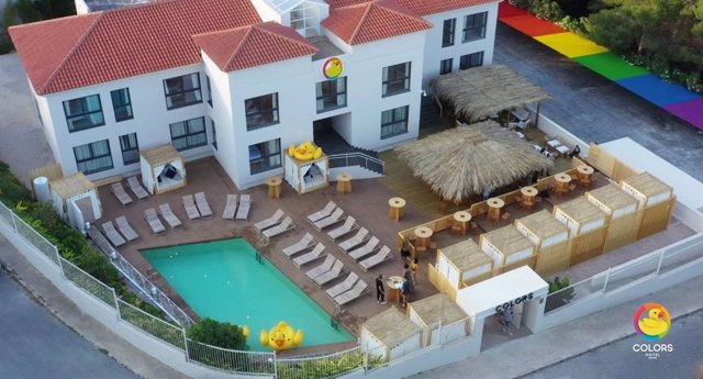 Perpesctiva desde el aire del Hotel Colors Benidorm.