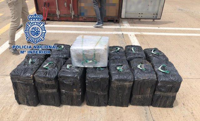 Cocaína incautada en un contenedor en el puerto de Las Palmas