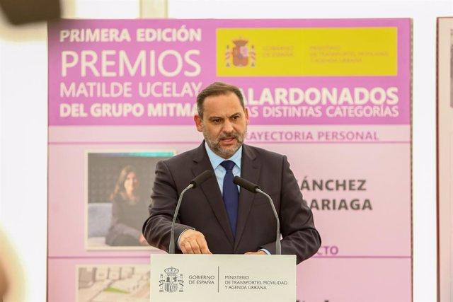 Arxiu - El ministre de Transports, Mobilitat i Agenda Urbana, Jose Luis Ábalos.