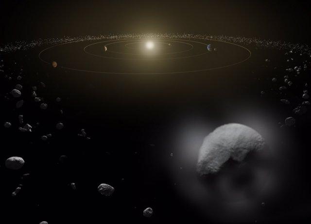 El cinturón de asteroides entre Júpiter y Marte es la principal fuente de material extraterrestre que aterriza en la Tierra.