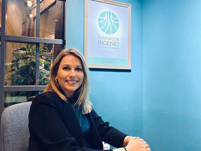 Natalia Corbalán, directora de Fundación Ingenio, en la sede de Madrid