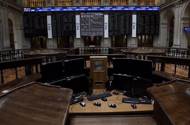 Valores económicos en el Palacio de la Bolsa, a 28 de mayo de 2021, en Madrid (España).