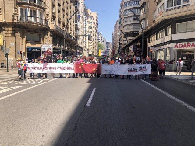 Cerca de 5.000 personas se manifiestan en Murcia y reclaman un Plan de Choque que permita reconstruir la Región