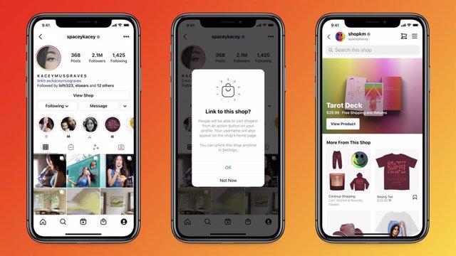 Imagen de la futura herramienta para que los creadores introduzcan un enlace a sus tiendas en sus perfiles