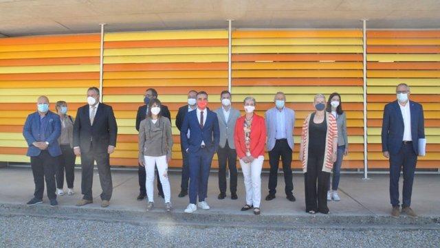 El Alto Comisionado para España Nación Emprendedora, Francisco Polo, en la reunión de este miércoles en Cubillos del Sil.
