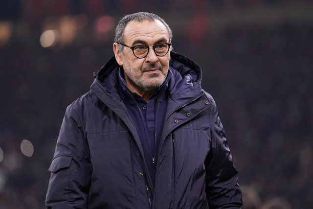 Archivo - Head coach of Juventus FC Maurizio Sarri before the Italian Cup, Coppa Italia, semi final 1st leg football match between AC Milan and Juventus on February 13, 2020 at Giuseppe Meazza stadium in Milan, Italy - Photo Morgese - Rossini / DPPI