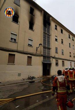 Incendio en una vivienda de Algemesí