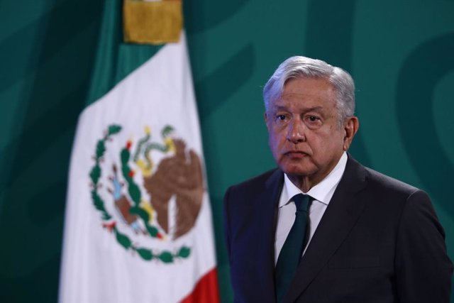 08 June 2021, Mexico, Mexico City: Mexican President Andres Manuel Lopez Obrador speaks during his daily press conference at the National Palace. Photo: -/El Universal via ZUMA Wire/dpa