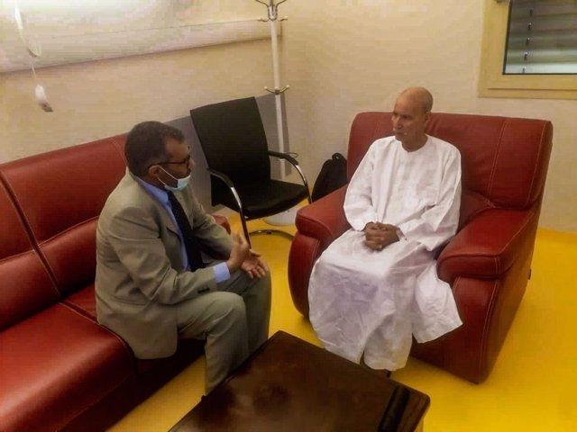 Brahim Ghali recibe al primer ministro saharaui, Bucharaya Beyun