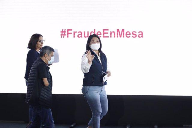 La candidata de Fuerza Popular a la Presidencia de Perú, Keiko Fujimori.