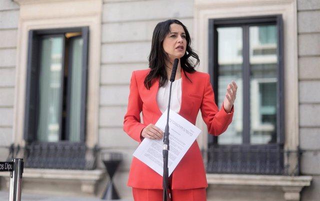 Arxiu- La líder de Cs, Inés Arrimadas.