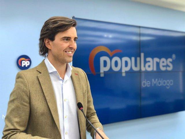 Archivo - El vicesecretario de Comunicación del PP y diputado nacional por Málaga, Pablo Montesinos
