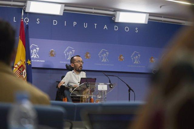 Arxiu - El portaveu d'Unides Podem al Congrés, Pablo Echenique.