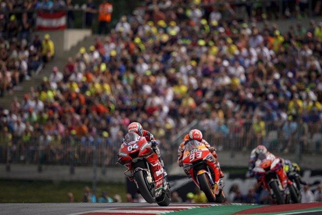 Archivo - 04 DOVIZIOSO Andrea (Ita) Ducati Team, Ducati, action during MotoGP race of myWorld Motorrad Grand Prix von Osterreich at Red Bull Ring, in Spielberg, from August 9 to 11, 2019 in Austria - Photo Studio Milagro / DPPI