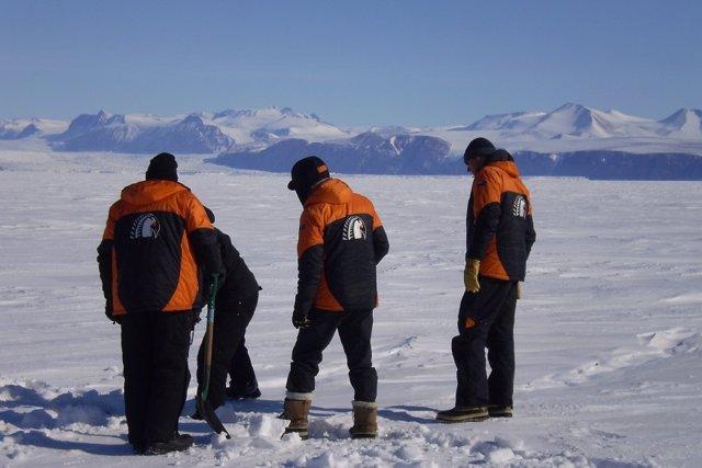 Científicos en la Antártida