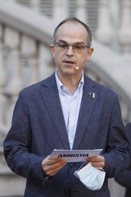 Archivo - Los líderes independentistas presos participan en un acto unitario en los Jardines del Palau Robert (Barcelona)