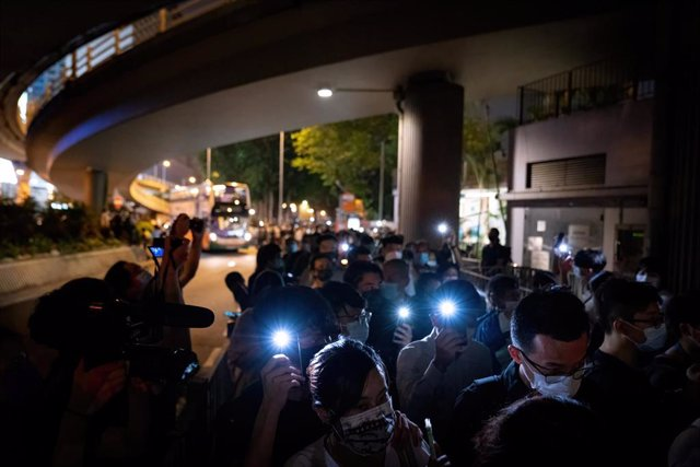 Vigilia por la masacre de la plaza de Tiananmen en Hong Kong