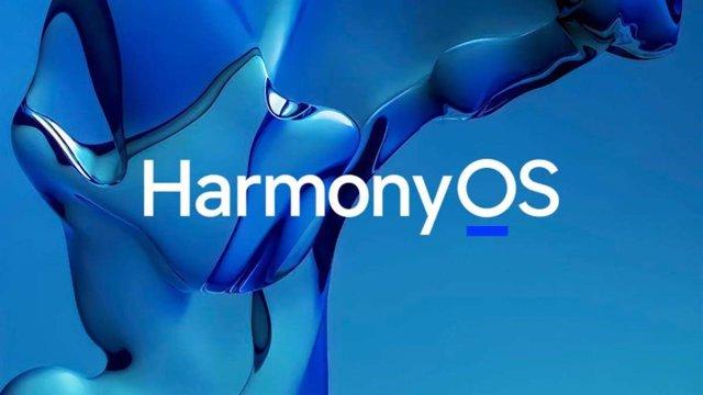 Logo de sistema operativo HarmonyOS de Huawei.