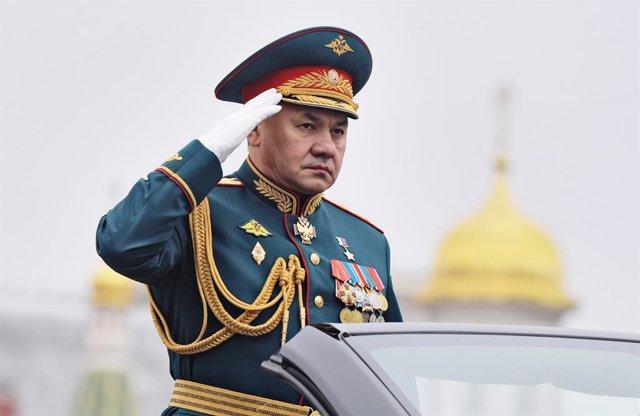 Archivo - El ministro de Defensa de Rusia, Sergei Shoigu