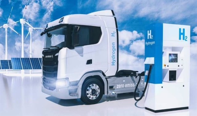 Camión de hidrógeno