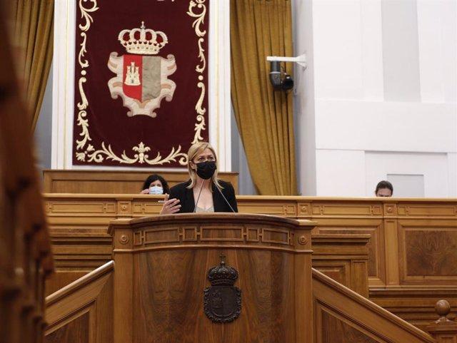 La presidenta del Grupo Parlamentario Ciudadanos, Carmen Picazo, en el pleno