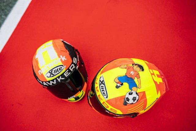 El Finetwork Hawkers Mir Junior Team se viste de España para apoyar a la Roja en la Eurocopa de fútbol.