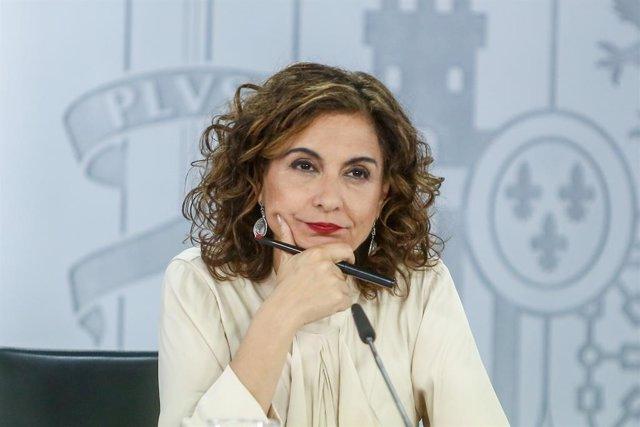 Arxiu - La ministra portaveu, María Jesús Montero.