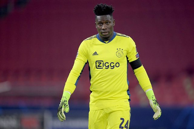 Archivo - Andre Onana of Ajax during the UEFA Champions League, Group D football match between Ajax and Midtjylland on november 25, 2020 at Johan Cruijff Arena in Amsterdam, Netherlands - Photo Gerrit van Keulen / Orange Pictures / DPPI