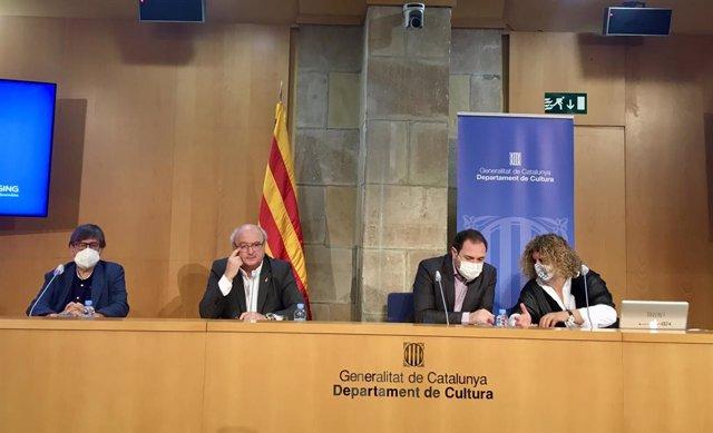 Presentació de la programació que culmina la celebració del 40è aniversari del Festival de Torroella (Girona) amb la seva directora, Montse Faura.