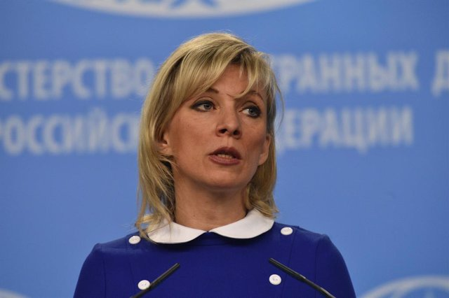Archivo - February 7, 2019 - Moscow, Russia: Russian Foreign Ministry spokesperson Maria Zakharova gives a briefing regarding current foreign policy issues at the Russian Foreign Ministry's press center. The law prohibiting Russian citizens to monitor the