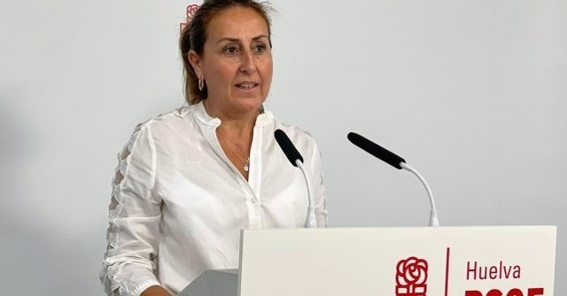 La diputada socialista onubense Pilar Rodríguez.