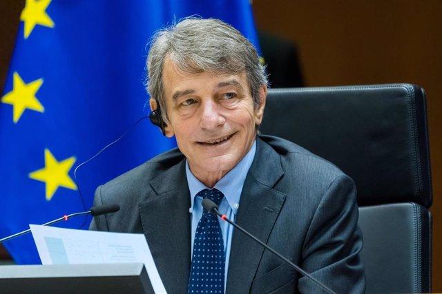 Archivo - David Sassoli, presidente del Parlamento Europeo
